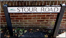 SZ1593 : Stour Road name sign, Christchurch by Jaggery
