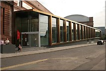 NS5666 : New Entrance to the Kelvin Hall, Bunhouse Road by Richard Sutcliffe