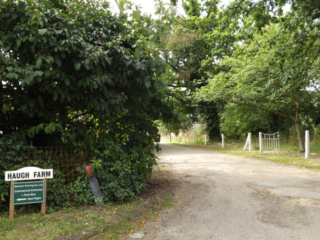 Entrance to Haugh Farmhouse