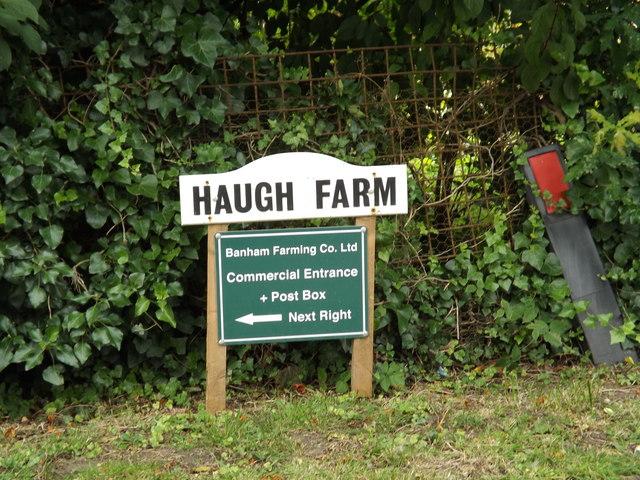 Haugh Farm sign
