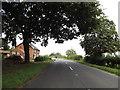 TM0889 : B1077 Haugh Road & Haugh Farm Cottages by Adrian Cable