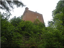 NM6947 : Looking up at Kinlochaline Castle by David Medcalf