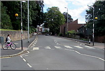 SX9193 : Zebra crossing, St David's Hill, Exeter by Jaggery