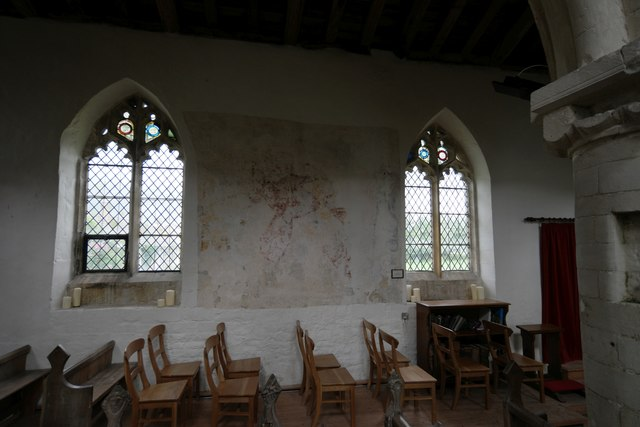 St Peter's Church: medieval plaster