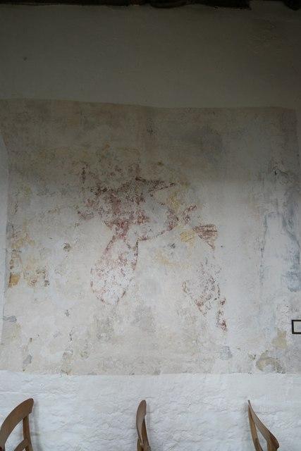 St Peter's Church: medieval plaster