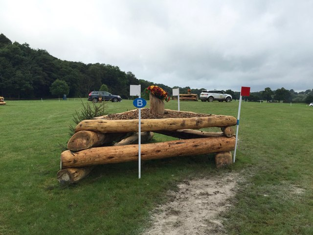 Somerford Park Horse Trials: cross-country obstacle
