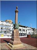 TQ8109 : War Memorial near Hastings Pier by Paul Gillett