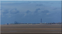 SD3036 : Blackpool Tower from Southport Pier by Ian Greig