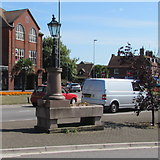 SZ1592 : Grade II listed former drinking fountain and cattle trough, Christchurch by Jaggery