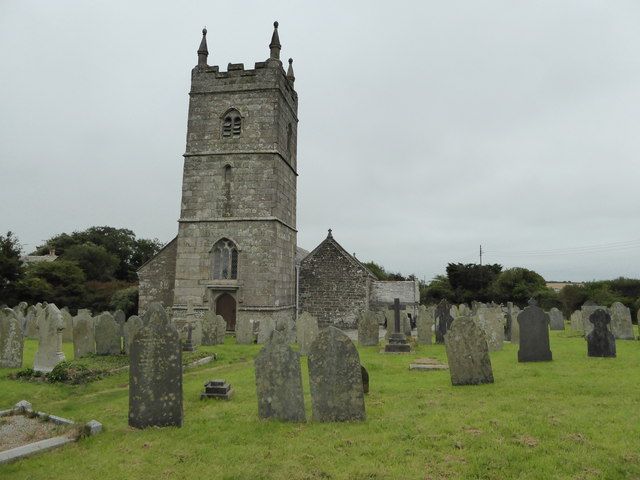 The church and graveyard at St Endellion