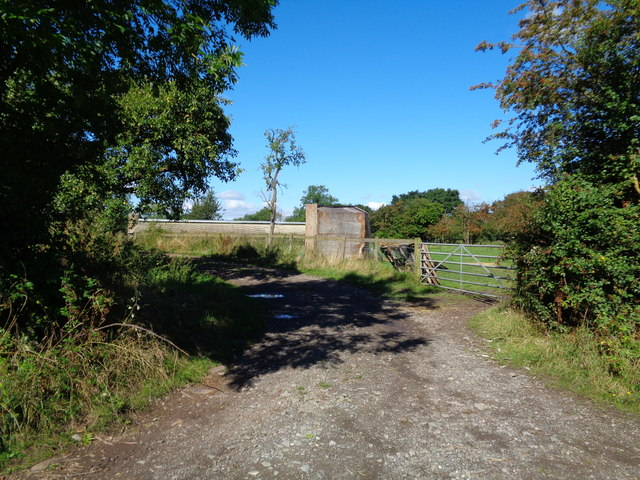 Track to sheds, Purshull Green, Worcestershire