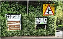 J3267 : Road signs, Ballylesson, Belfast (August 2016) by Albert Bridge