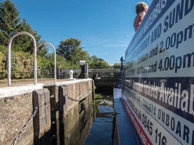 Entering Lock on River Lea, Ware, Hertfordshire