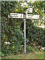 TM0271 : Roadsign on Finningham Road by Adrian Cable