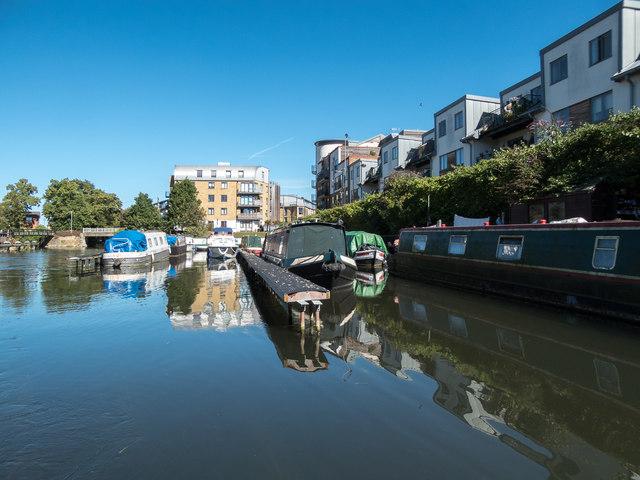Houseboats, River Lea, Hertford, Hertfordshire