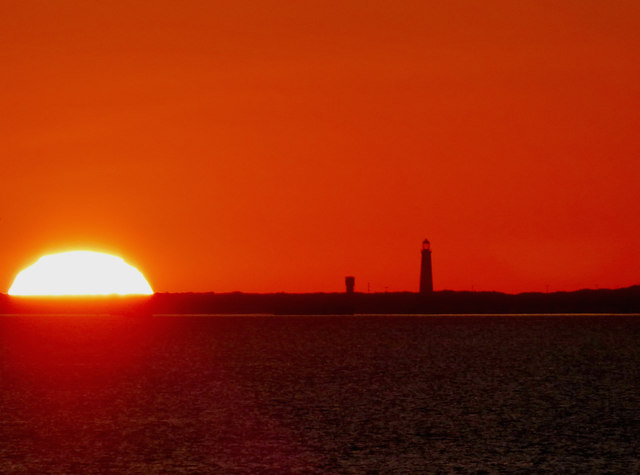 Sunrise over Spurn Point from Cleethorpes