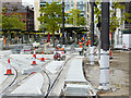 SJ8397 : Construction of new Tram Station at St Peter's Square (Late August 2016) by David Dixon