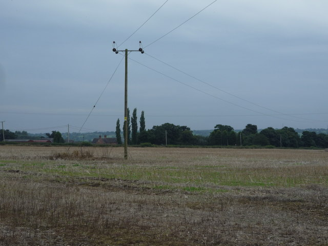 Stubble field and power line