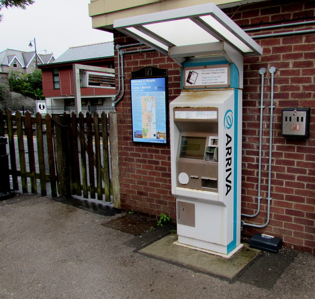 Arriva ticket machine outside Penarth railway station