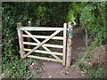 SO8542 : New gate on Donkey Lane by Philip Halling