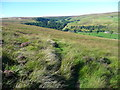 SE0228 : Path on the slopes of Garnett Edge, Midgley by Humphrey Bolton