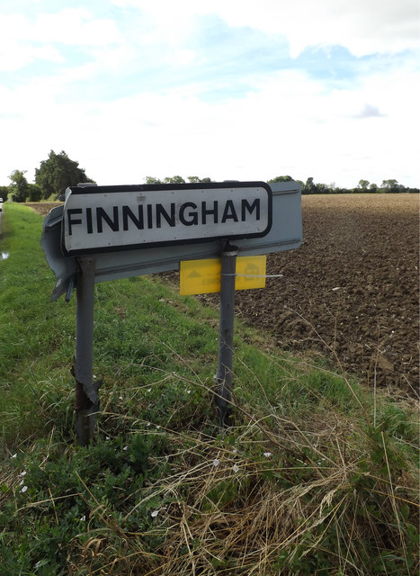 Finningham Village Name sign