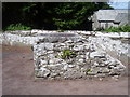 SR9198 : St Michael's Church, Castlemartin - detached mounting block by welshbabe