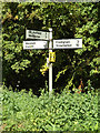 TM0271 : Roadsign on the C555 Finningham Road by Adrian Cable