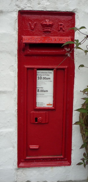 Victorian postbox, Lower Leigh
