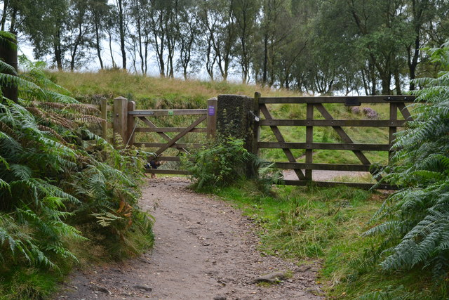 Gate on path above Froggatt Edge