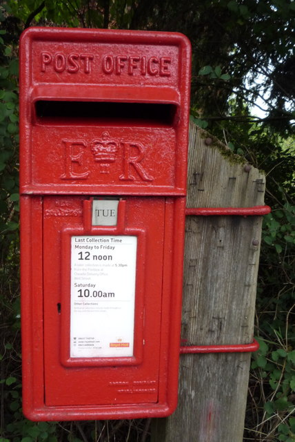 Close up, Elizabeth II postbox, Dods Leigh