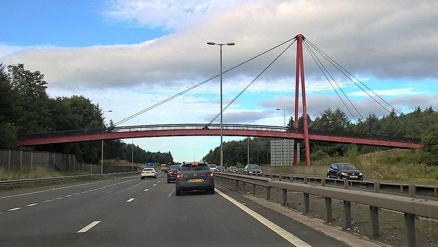Footbridge over the M80