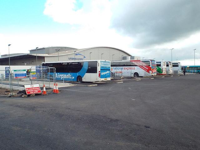 Coach terminal at Luton Airport