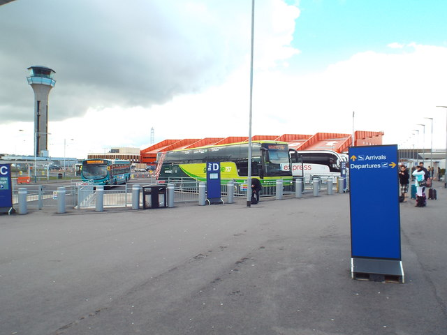 Coach station at Luton Airport