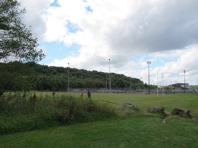 Rugby pitch outside the South Leeds Stadium