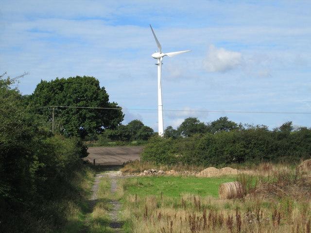 Wind turbine south of Wetley Rocks