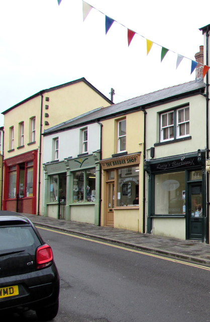 Bunting and barber shops, Blaenavon