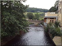 SD9927 : River through Hebden Bridge by Malc McDonald