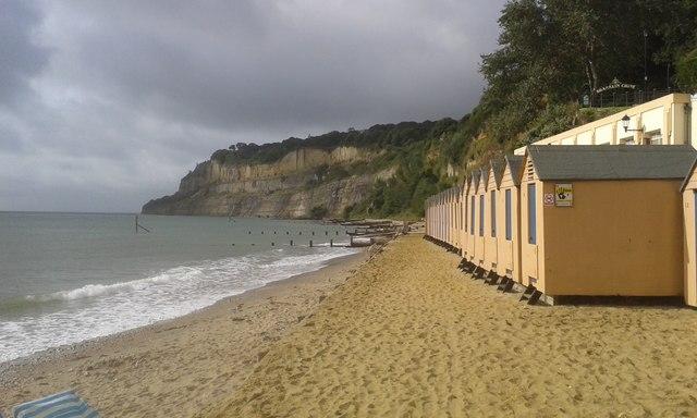 Beach and beach huts, Shanklin