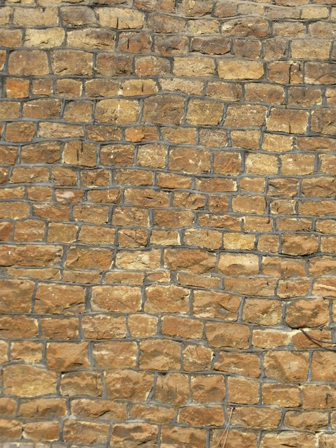 Stone-built house-wall, Brighton Road, Crownpits, Godalming by Stefan Czapski