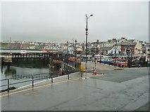 SC2484 : Footbridge open, Peel Harbour by Christine Johnstone