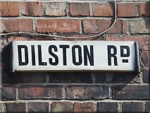 NZ2364 : Old sign for Dilston Road, Arthur's Hill, NE4 by Mike Quinn