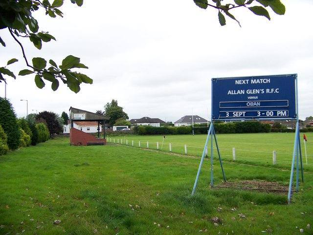 Allan Glen's rugby pitch by Elliott Simpson