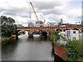 SJ8297 : Victorian Railway Bridge over the Irwell by David Dixon