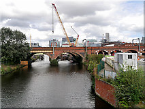 SJ8297 : Victorian Railway Bridge over the Irwell by David Dixon
