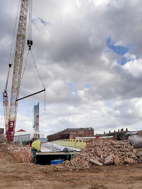 Ordsall Curve Construction, Installation of New Footbridge over the Irwell