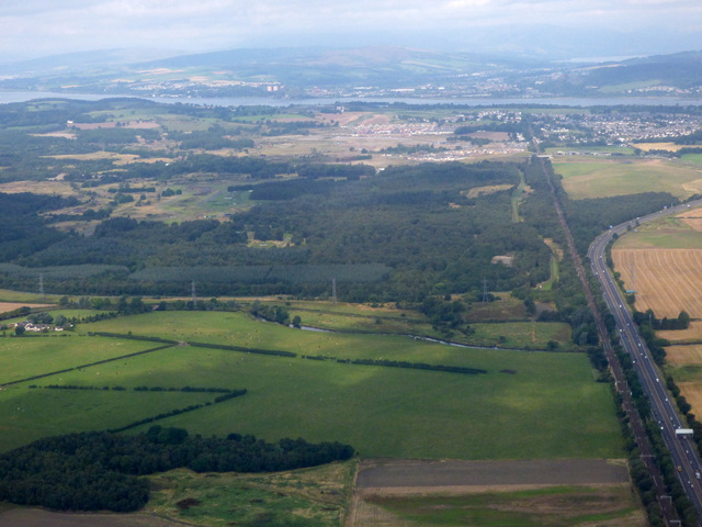 Bishopton and the Clyde from the air