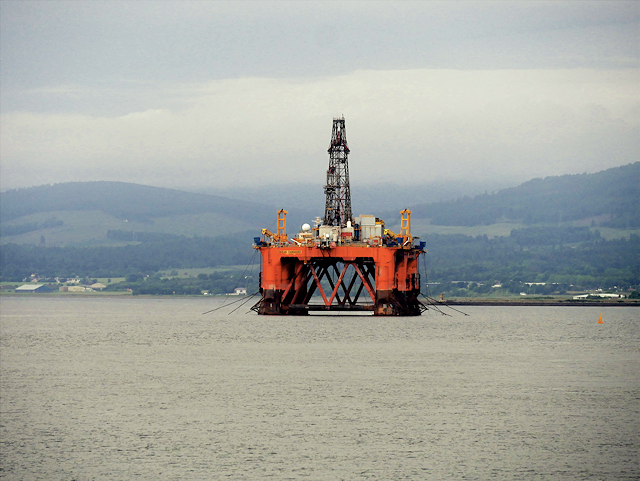 Ocean Vanguard Drilling Rig in Cromarty Firth