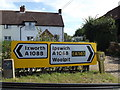 TL9566 : Roadsigns on the A1088 Ixworth Road by Adrian Cable