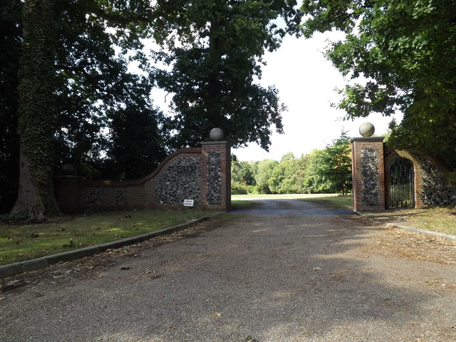 Entrance to Little Haugh Hall